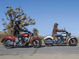 2015-Indian-Scout-silver-and-red-action